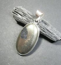 Natural, Apache Pyrite Gemstone Pendant - 925 Stamped