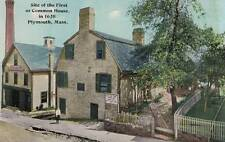 Antique POSTCARD c1910s Site of First Common House PLYMOUTH, MA 17253