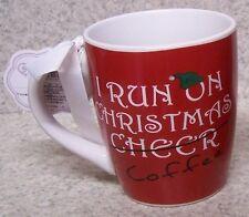 Jumbo Coffee Mug I Run on Christmas Cheer NEW 24 ounce cup with gift box