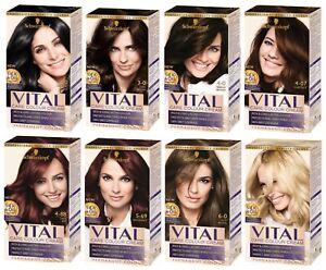 Schwarzkopf VITAL Hair Colours 1-0 3-0  4-0  4-7  4-88  5-69  6-0  10-2
