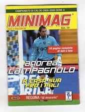 MINIMAG CAMPIONATO 2008-2009 - REGGINA N. 181 ANDREA CAMPAGNOLO