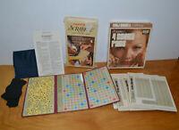 VINTAGE SCRABBLE POCKET EDITION & SCORE PADS LOT 1973 CROSSWORD BOARD GAME