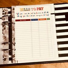 Bills to Pay Dashboard 4 use with Heidi Swapp Planner