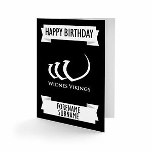 Widnes Vikingos - Personalizado Tarjeta de Felicitación ( Crest )