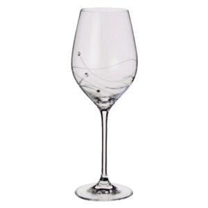 Dartington Crystal White Wine Glasses Glitz with Swarovski Elements 2 PACK Boxed