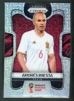 2018 ANDRES INIESTA PANINI PRIZM WORLD CUP FIFA WORLD CUP RUSSIA 2018 MOJO