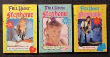 1990s FULL HOUSE Stephanie Paperback LOT of 3 FN-/FN+ 1st Minstrel