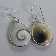 Earrings 92.5 sterling silver Thai nice Shiva eye