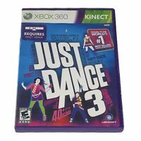 Just Dance 3 (Microsoft Xbox 360, 2011) Complete w/Manual