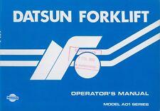 1983 DATSUN FORKLIFT MODEL A01 SERIES BETRIEBSANLEITUNG OWNER'S MANUAL ENGLISCH