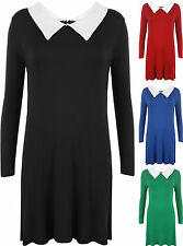 Viscose Long Sleeve No Pattern Regular Dresses for Women