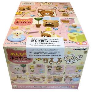 Rare 2015 Re-Ment Rilakkuma Cat Cafe Full Set of 8 pcs