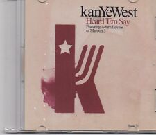 KanYeWest-Heart Em Say promo cd single With Adam Levine  Maroon 5