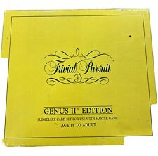Trivial Pursuit Genus II Edition 1,000 Question And Answer Cards ONLY
