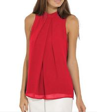 Women Casual Sleeveless Chiffon Vest Womens T Shirt Blouse Loose TopS plus size