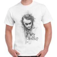 Joker Sketch Gotham Why So Serious Cool Vintage Comic Retro T Shirt 472