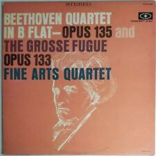 Beethoven Quartet In B Flat Opus 135 & 133  LP Concert-Disc CS-249