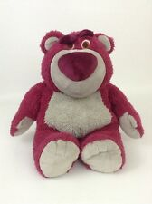 """Lotso Huggin Strawberry Bear 14"""" Plush Disney Store Toy Story 3 Stuffed Animal"""