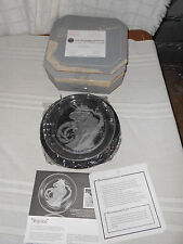 Bradford Exchange Michael Yates crystal country ladies Angelica plate w/COA box