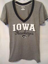 JANSPORT Iowa Hawkeyes TShirt Womens Large Gray VNeck College University Top