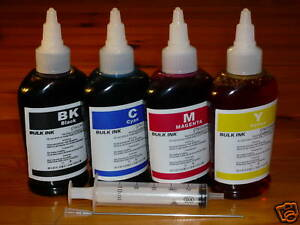 Non-OEM 4 colors 100ml x 4 bottles refill ink for all Epson Printer and EcoTank