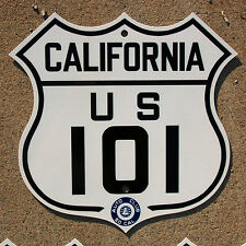 California ACSC US route 101 highway road sign auto club AAA Los Angeles