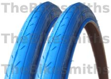 """2 CST 27""""x1-1/4"""" BLUE Road Bike Tires Track Fixed Gear Bicycle Pair Tyre 27 Inch"""