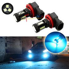 10000K Ice Blue 3535-SMD H11 H8 LED Light Bulbs For Fog Lights Driving DRL Lamps