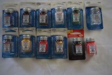 TESTORS 1/4 oz Enamel Paint. Set of 11 Different Colors & 1 Enamel Thinner