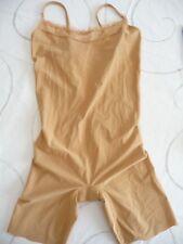 caraco combi short  top à bretelles réglables LIZ beige nude T L NEUF