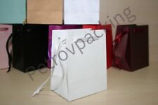 EXTRA SMALL WHITE PAPER GIFT BAGS PK OF 10 HANDMADE