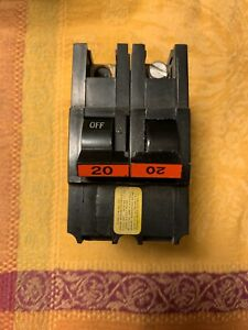 20 amp 2 pole Federal Pacific Electric STAB-LOK Circuit Breaker Type NA - USED