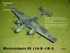 Messerschmitt Bf 110 K-1/K-2  (Bf 110/3m)  1/72 Bird Models Umbausatz/conversion