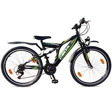 26 Zoll Mountainbike 18 Gang Shimano StVZO Beleuchtung Fahrrad MTB Vollgefedert