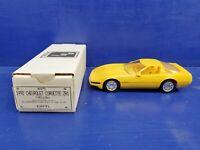 1992 AMT ERTL #6575 PROMO CHEVROLET CORVETTE ZR1 YELLOW CAR