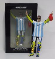 MINICHAMPS VALENTINO ROSSI 1/12 FIGURA WINNER GP ARGENTINA 2015 MARADONA SHIRT
