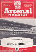 1962/63 ARSENAL V LIVERPOOL 16-03-1963 FA Cup 5th Round