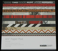 """Kaisercraft 'ON STAGE' 6.5"""" Paper Pad KAISER *Deleted 3 Left only*"""