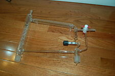 Atmar glass distillation head vacuum apparatus  condenser 29/24 metering valve