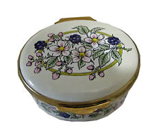 Oval Box Handpainted English Enamel - Blackberry decor- Gift boxed