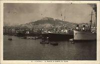 Napoli Neapel Italien 1928 Schiff Schiffe Il Porto e Castel S. Elmo Hafen Burg