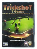 Trickshot PC CD ROM 7 Snooker Pool Games On One Disc Windows XP 2000 Brand New