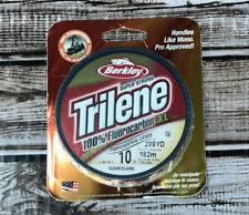 Berkley 1291908 Clear Trilene XL 100% Fluorocarbon 10 Lb 200 Yd Fishing Line New
