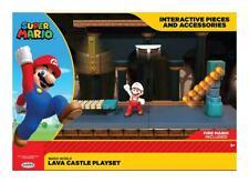 Offiziell Lizenzierte Super Mario Figur Diorama Lava Schloss Castle