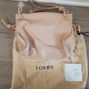 Authentic Beige Loewe leather bag