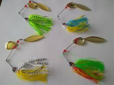 Largemouth Bass walleye fishing lures spinner Baits tackle 4 pack lot brand new