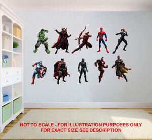 AVENGERS MARVEL SUPERHERO CHILDREN KIDS BEDROOM VINYL DECAL WALL ART STICKER