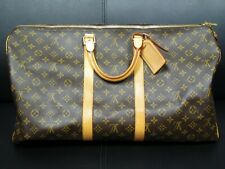 55bdf1153506 LOUIS VUITTON MONOGRAM KEEPALL 55 LEATHER CANVAS TRAVEL TOTE EXCELLENT  CONDITION