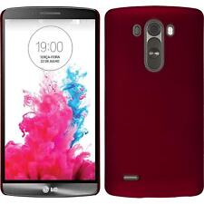 Funda Rígida LG G3 - goma rojo + protector de pantalla