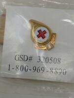 American Red Cross ARC 8 Gallon Blood Donor Pin Bin 3/29